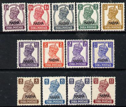 Indian States - Nabha 1941-45 KG6 opt