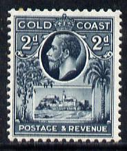 Gold Coast 1928 KG5 Christiansborg Castle 2d slate mounted mint SG 106