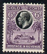 Gold Coast 1928 KG5 Christiansborg Castle 6d black & purple mounted mint SG 109