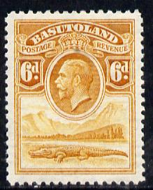 Basutoland 1933 KG5 6d orange-yellow Nile Crocodile mounted mint SG 6