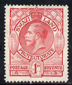 Swaziland 1933 KG5 1d carmine mounted mint SG 12