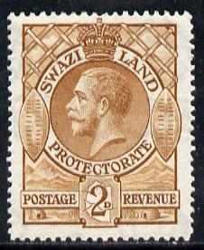 Swaziland 1933 KG5 2d brown mounted mint SG 13