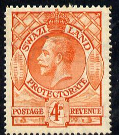 Swaziland 1933 KG5 4d orange mounted mint SG 15