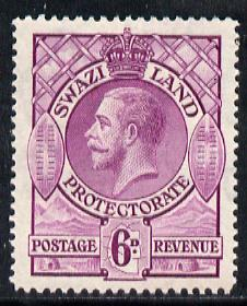 Swaziland 1933 KG5 6d bright purple mounted mint SG 16