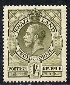 Swaziland 1933 KG5 1s1s olive mounted mint SG 17