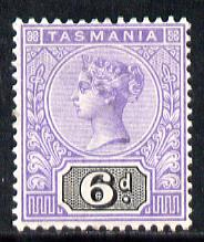 Tasmania 1892-99 QV Key Plate 6d violet & black mounted mint SG 219