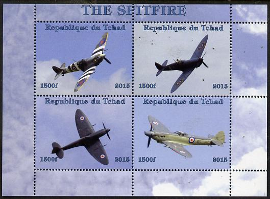 Chad 2015 The Spitfire perf sheetlet containing 4 values unmounted mint. Note this item is privately produced and is offered purely on its thematic appeal. .