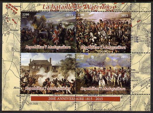 Madagascar 2015 Battle of Waterloo perf sheetlet containing 4 values unmounted mint. Note this item is privately produced and is offered purely on its thematic appeal
