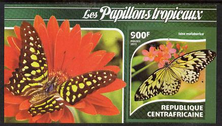 Central African Republic 2015 Butterflies #1 imperf s/sheet unmounted mint. Note this item is privately produced and is offered purely on its thematic appeal