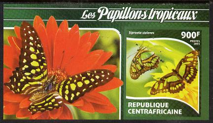 Central African Republic 2015 Butterflies #2 imperf s/sheet unmounted mint. Note this item is privately produced and is offered purely on its thematic appeal