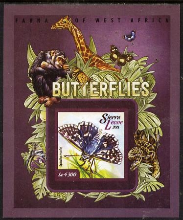 Sierra Leone 2015 Butterflies #4 imperf s/sheet unmounted mint
