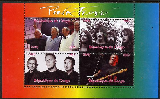 Congo 2015 Pink Floyd #2 perf sheetlet containing 4 values unmounted mint. Note this item is privately produced and is offered purely on its thematic appeal