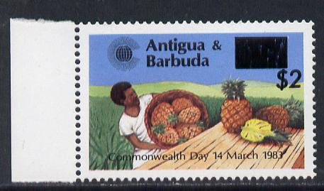 Antigua 1984 Commonwealth Day surcharge $2 on 25c Pineapples unmounted mint, SG 852