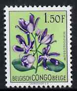 Belgian Congo 1952 Flowers 1f50 Schizoglossum unmounted mint SG 306*