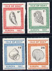 Isle of Soay 1967 Europa (Shells) rouletted set of 4 unmounted mint