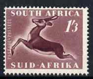 South Africa 1953 Springbok 1s3d unmounted mint, SG 147*