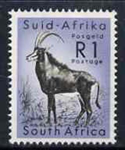 South Africa 1961 Antelope 1r from decimal def set unmounted mint, SG 197