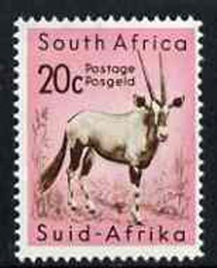South Africa 1961 Gemsbok 20c from decimal def set unmounted mint, SG 195