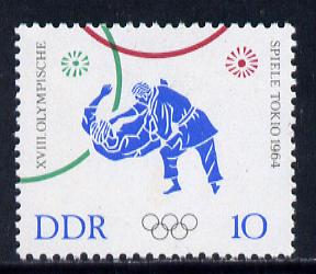 Germany - East 1964 Judo 10pf from Tokyo Olympic Games set unmounted mint, SG E765