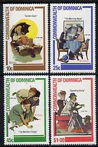 Dominica 1982 Norman Rockwell (Artist) Commemoration set of 4 unmounted mint, SG 802-05