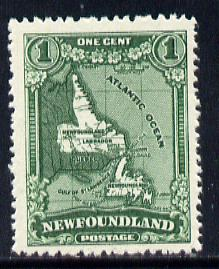 Newfoundland 1929 1c Map (Perkins Bacon) unmounted mint SG 179