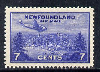 Newfoundland 1943 7c Plane over St Johns (SG 291) unmounted mint
