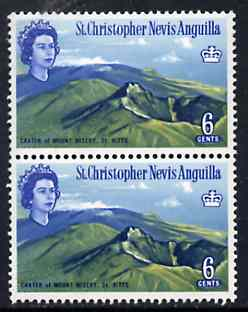 St Kitts-Nevis 1963 Mt Misery Crater 6c unmounted mint with