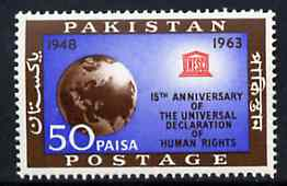 Pakistan 1963 Human Rights unmounted mint, SG 194*