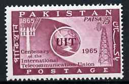 Pakistan 1965 ITU Centenary unmounted mint, SG 221*