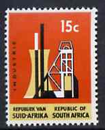 South Africa 1969 Industry 15c (Redrawn with phosphor bands) unmounted mint, SG 295*