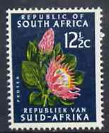 South Africa 1969 Protea 12.5c (Redrawn with phosphor bands) unmounted mint, SG 294