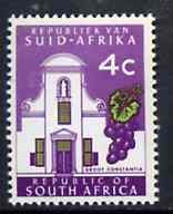 South Africa 1969 Groot Constantia 4c (Redrawn with phosphor bands) unmounted mint, SG 288*