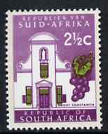 South Africa 1969 Groot Constantia 2.5c (Redrawn with phosphor bands) unmounted mint, SG 286*