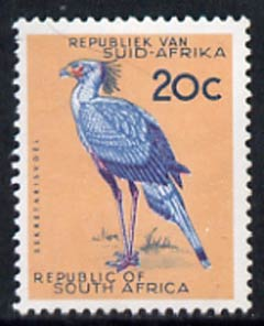 South Africa 1963 Secretary Bird 20c (wmk RSA) unmounted mint, SG 234*
