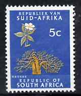 South Africa 1964 Baobab Tree 5c (Redrawn & wmk'd) unmounted mint, SG 244*