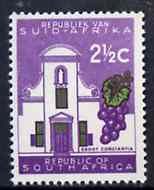 South Africa 1961 Groot Constantia 2.5c (no wmk) unmounted mint, SG 213*