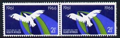 South Africa 1966 Bird in Flight 2.5c se-tenant pair (from 5th Anniversary set) unmounted mint, SG 263