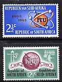 South Africa 1965 ITU Centenary set of 2 unmounted mint, SG 258-59*