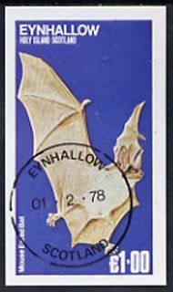 Eynhallow 1978 Mouse Eared Bat imperf souvenir sheet (�1 value) cto used