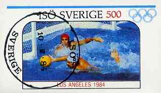 Iso - Sweden 1984 Olympic Games (Water Polo) imperf souvenir sheet (500 value) cto used
