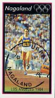 Nagaland 1984 Los Angeles Olympic Games (Running) imperf  souvenir sheet (1ch value) cto used