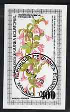 Equatorial Guinea 1979 Flowers (Weigela) 400ek imperf souvenir sheet  cto used