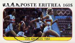 Eritrea 1984 Los Angeles Olympic Games (Running) imperf souvenir sheet ($160 value) cto used