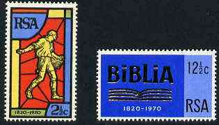 South Africa 1970 Bible Society set of 2 unmounted mint, SG 301-02*