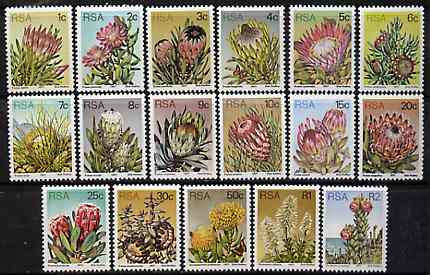 South Africa 1977-82 Succulents def set of 17 (1 of each value) unmounted mint SG 414-30