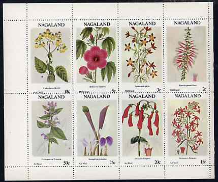 Nagaland 1972 Flowers complete perf set of 8 values unmounted mint