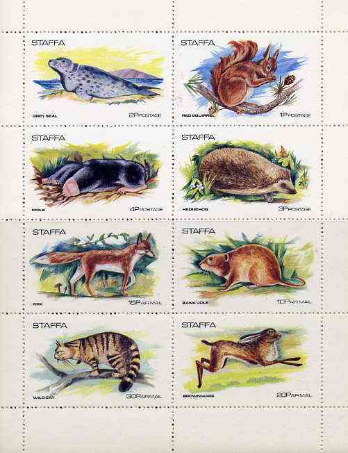 Staffa 1973 Wildlife complete perf set of 8 values unmounted mint