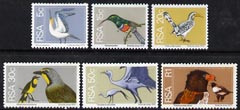 South Africa 1974-76 Birds, set of 6 values from Flora & Fauna def set unmounted mint, SG 352, 358-59 & 361-63