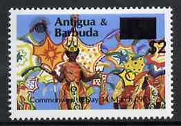 Antigua 1984 Commonwealth Day surcharge $2 on 45c Carnival unmounted mint, SG 853