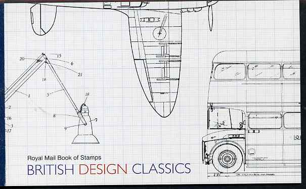 Booklet - Great Britain 2009 British Design Classics \A37.68 Prestige booklet complete & very fine SG DX44